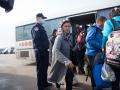 Hrvaška, Opatovac, 17.10.2015, 17. oktober 2015 Begunski popisni center Opatovac, kjer hrvaški policisti popisujejo begunce iz bližnjega vzhoda preden jih odpeljejo na Madžarsko in v Slovenijo. Foto: Matej Pušnik