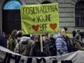 Ljubljana, demonstracije proti vojni.
