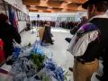 Ministrica Milojka Kolar Celarc na otvoritvi Urgentnega centra na Jesenicah. Ministrica v odhajanju (od govorniškega pulta)