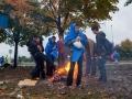 Hrvaška, Slovenija, obmejno območje, Trnovec, 19.10.2015, 19. oktober 2015, Begunci čakajo na vstop na teritorij Slovenije.