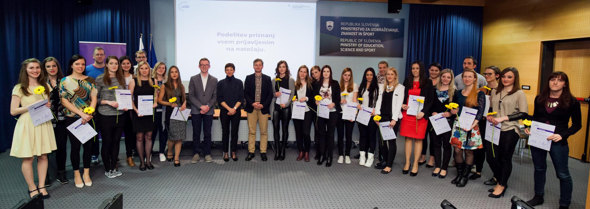 05. 04. 2016 Ljubljana, Ministrstvo za izobraževanje znanost in šport. Podelitev nagrad najboljšim diplomam in magisterijem na temo mladih.