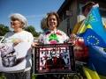 30.07.2016 Protesti pred rusko ambasado proti Vladimirju Putinu in njegovi politiki. Zbralo se je 20 prostestnikov, ter nekaj članov VSO, ki jim je uspelo skruniti dva državna simbola hkrati.
