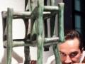03. 08. 2016 Ljubljana, Mestna hiša. Razstava Društva Keramičarjev in lončarjev. Zelena mošeja in avtor Borut Cafuta