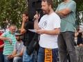 15.09.2016 Ljubljana, Prešernov trg. Demosntracije proti tajnim trgovinskim sporazumom.